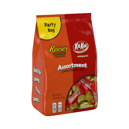 Christmas Candy Kit - Reese's and Kit Kat, Chocolate Candy Assortment, 40 Oz