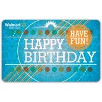 Birthday Walmart Gift Card