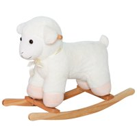 Qaba Kids Plush Rocking Sheep Lamb Ride on Toy Playtime Rocker