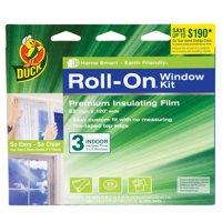 Duck Brand Roll-on Window Kit, Indoor, 3pk