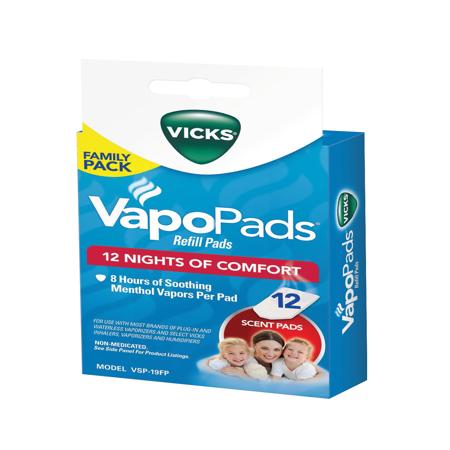 Asthma Symptoms - Vicks VapoPad Family Pack 12 Pack, VSP19-FP