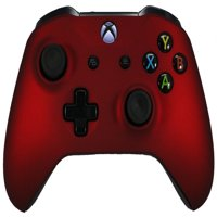 Microsoft Xbox One S Soft Touch Custom Controller - Red Soft Shell For Comfort Grip X