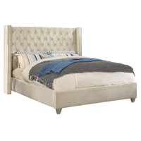 Meridian Furniture Inc Aiden Velvet Platform Bed