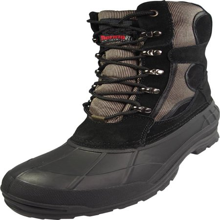 NORTY Mens Mid Waterproof Leather Work Boots Panel Thermolite Insulated Snow Boot - 30 Day Guarantee - FREE SHIPPING