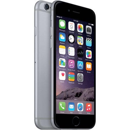 78c9b99db7b483 Straight Talk Prepaid Apple iPhone 6 32GB, Space Gray - Walmart.com