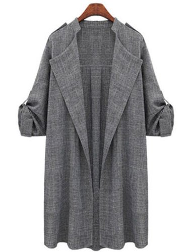 Plus Size Womens Autumn Fall Winter Outwear Long Trench Coat Overcoat Jackets Cardigan Duster (Storm Trench)