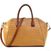 3cfeb0e387a7 Dasein Croc-embossed Weekender Satchel with Removable Shoulder Strap Tan