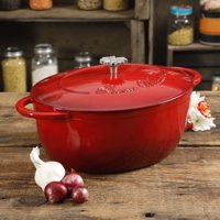The Pioneer Woman Timeless Beauty 7-Quart Dutch Oven with Daisy and Bakelite Knob