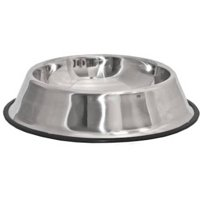 Aleko Stainless Steel Dog and Cat Food Bowl