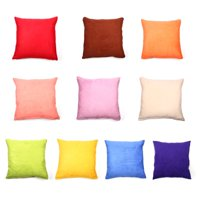 """Solid Soft Suede Nap Throw Pillow Cover without Pillow Square Decorative Cushion Cover for Teen Girl's Room/ Nursery/ Baby/ Wedding, 18"""" x 18"""""""