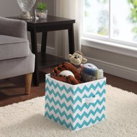 "Mainstays 10.5"" Collapsible Fabric Cube Storage Bin, Single, Multiple Colors"