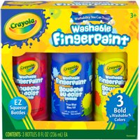 Crayola Washable Finger Paint 8 Oz 3 Count Primary