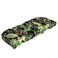 Better Homes & Gardens Black Tropical Aruba Palm Outdoor Wicker Settee Cushion