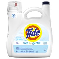 Tide Free & Gentle, HE Turbo Clean, Liquid Laundry Detergent, 96 Loads 150 fl oz