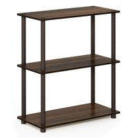Furinno Turn-N-Tube 3-Tier Compact Multipurpose Shelf Display Rack, 10024WN/BR