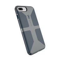 Speck CandyShell Grip Case for iPhone 8 Plus, 7 Plus, 6s Plus, and 6 Plus, Grey and Blue