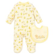 37dc5c6749 Little Me Unisex Yellow Duck Snap Front Footie Pajamas For Baby Boys or Baby  Girls with