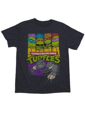 TMNT Shredder Attacks Short Sleeve Crew Neck Tee Shirt (Little Boys & Big Boys)