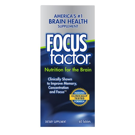 FocusFactor Dietary Supplement Tablets, 60 (120 Tablets Dietary Supplement)