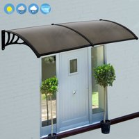 "Zeny 80""x 40"" Window Awning Outdoor Polycarbonate Front Door Patio Cover Canopy"