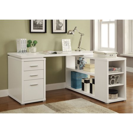 Coaster Yvette Collection L-Shaped Reversible Desk, Multiple Colors