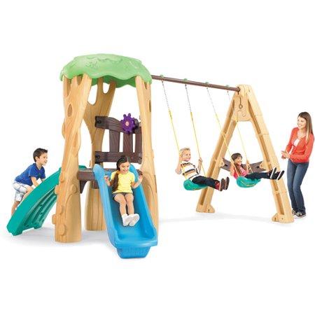 Little Tikes Tree House Swing Set Walmart Com