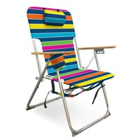 Caribbean Joe High Weight Capacity Back Pack Beach Chair