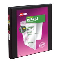 "Avery 0.5"" Durable View Binder, Slant Ring, Black, 120 Sheets"