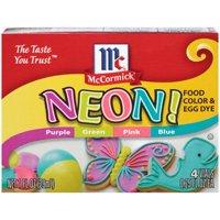 (2 Pack) McCormick Neon Assorted Food Color & Egg Dye, 1 fl oz