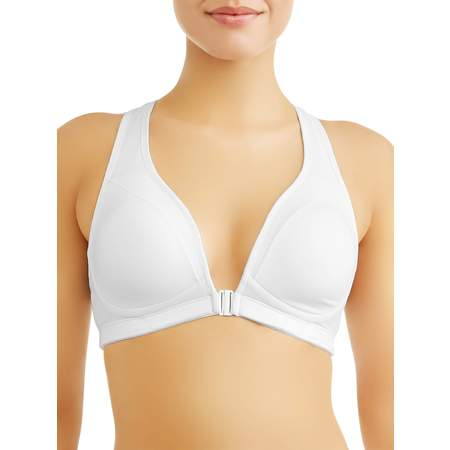 - Womens Front Close Plunge Sports Bra