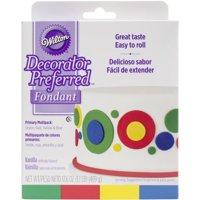 Wilton Decorator Preferred Fondant, Primary Colors, 4pk