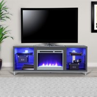 "Ameriwood Home Lumina Fireplace TV Stand for TVs up to 70"" Wide, Black Oak"