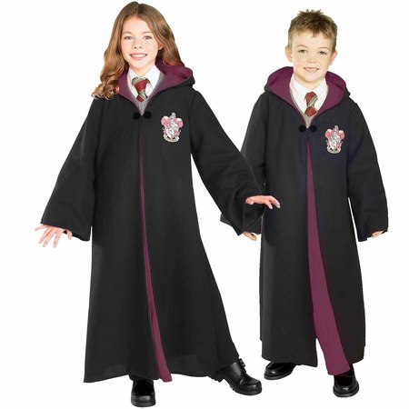 Harry Potter Deluxe Gryffindor Robe Child Halloween Costume](Halloween Costumes Using Black Skirt)