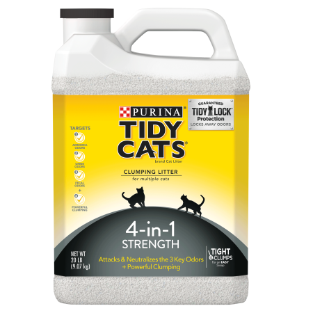 Purina Tidy Cats 4-in-1 Strength Clumping Cat Litter, 20-lb