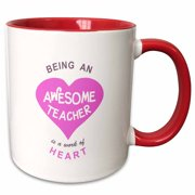 3f67fe5080e6b3 3dRose Being an Awesome Teacher is a work of Heart - school thank you gift  -. Product Variants Selector