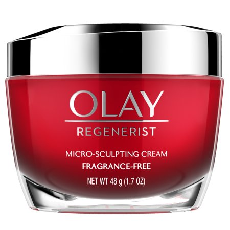 Olay Regenerist Micro-Sculpting Cream Face Moisturizer, Fragrance-Free 1.7 (Best Soothing Face Cream)