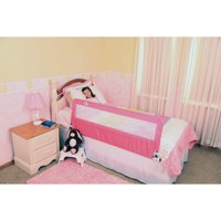 Regalo Extra Long Hideaway Bed Rail, Pink