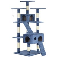 """New Navy Blue 73"""" Cat Tree Scratcher Play House Condo Furniture Post Pet House"""