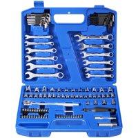 Hyper Tough 113-Piece 1/4-Inch and 3/8-Inch Mechanics Tool Set