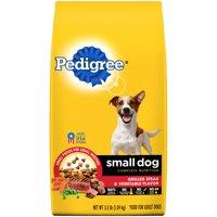 PEDIGREE Small Dog Complete Nutrition Adult Dry Dog Food Grilled Steak and Vegetable Flavor, 3.5 lb. Bag