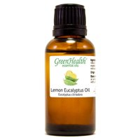 Lemon Eucalyptus Essential Oil - 1 fl oz (30 ml) Glass Bottle w/ Euro Dropper - 100% Pure Essential Oil by GreenHealth