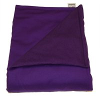 """WEIGHTED BLANKETS PLUS LLC - ADULT LARGE WEIGHTED BLANKET - PURPLE - COTTON/FLANNEL (72""""L x 42""""W) 14lb MEDIUM PRESSURE."""