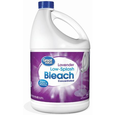 Great Value Easy Pour Bleach, Lavender Scent, 121 fl oz, Liquid Laundry (Ecover Laundry Bleach)