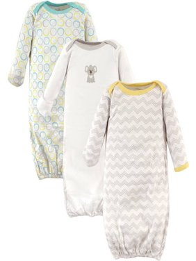 Baby Unisex Gowns, 3-Pack