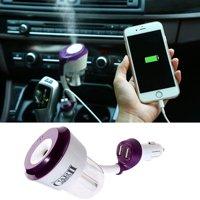 Mini Car Air Humidifier Diffuser Essential Oil Ultrasonic Aroma Mist Purifier US