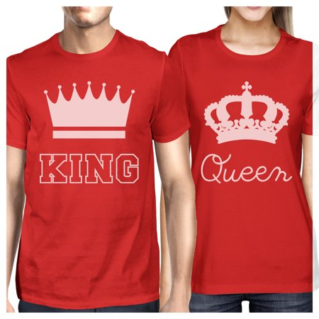 King And Queen Matching Couple Gift Shirts Red His and Hers Tshirts](His And Her Shirts)