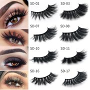 5d467e8689b 2 Pairs 3D Mink False Eyelashes Wispy Cross Long Thick Soft Fake Eye Lashes  best gift