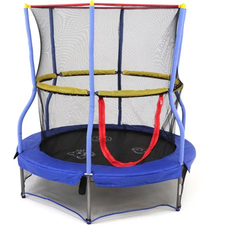 Skywalker Trampolines 55-Inch Bounce-N-Learn Trampoline, with Enclosure and Sound,