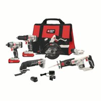PORTER CABLE 20-Volt Max Lithium-Ion 6 Tool Combo Kit, PCCK617L6