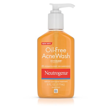 Salicylic Acid Face Wash - Neutrogena Oil-Free Salicylic Acid Acne Fighting Face Wash, 6 fl. oz